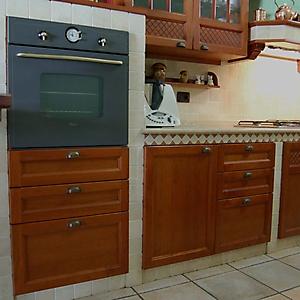 11 cucina ciliegio travertino sabbiato muratura prefabbricata