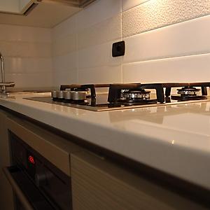14 moderno angolo cottura basi spazzolate pensili laccato opaco