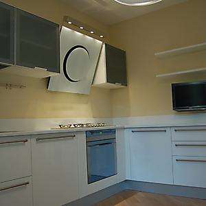 6 cucina moderna bianco lucido e vetro