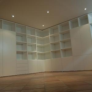 14 libreria su misura angolare laccato bianco