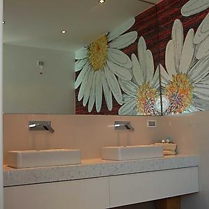 6 bagno in camera con mosaico