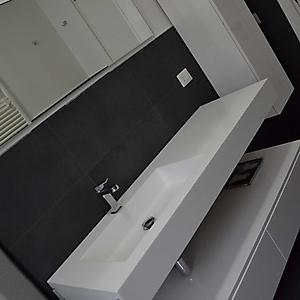 9 bagno moderno gres grigio bianco