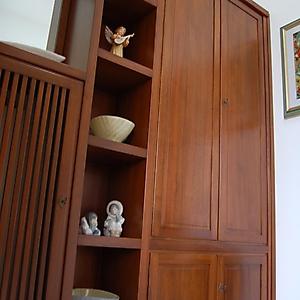 4 parete ingresso noce con copritermo